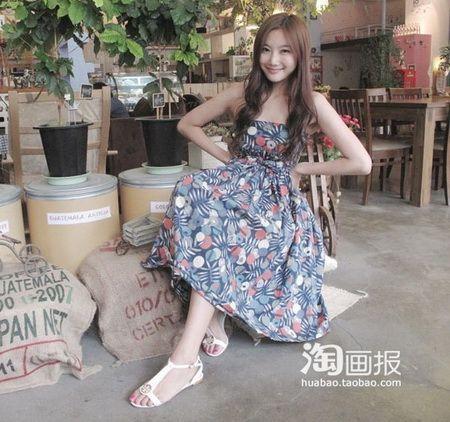 韩国美腿女王夏日出游搭配